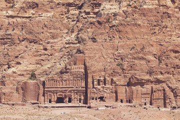 Royal Tombs at Petra Jordan