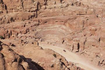 Roman amphitheater in Petra Jordan