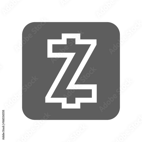 Zcash Crypto Currency Vector Icon