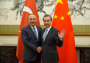 Turkish Foreign Minister Mevlut Cavusoglu visits China