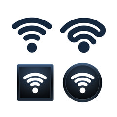 Wifi icons design, isolated vector illustrations