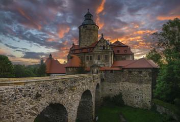 Fotobehang Kasteel Czocha Castle, Silesia, Poland