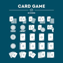 Card Game vector icon set