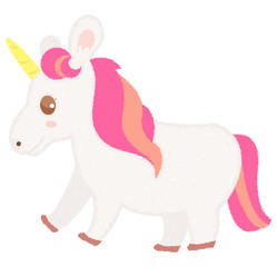 Cute unicorn hand draw vector