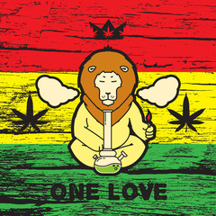 Just legalize - series. Animals smoke marijuana