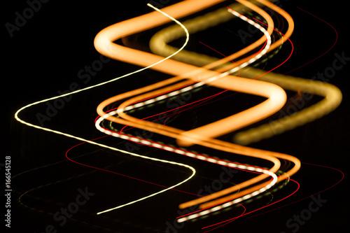 Beautiful Photo Draw a light line at night