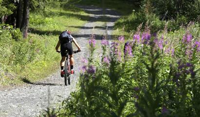 Bike cross in montagna