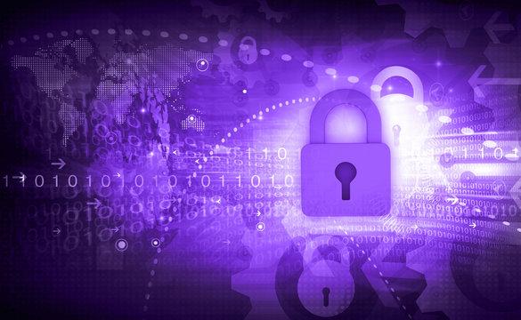 Internet security concept. 3d illustration