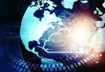Cloud computing concept background. 3d illustration
