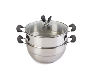 Multipurpose steaming pot and boiling isolated