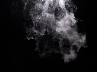 White vapor cloud of electronic cigarette