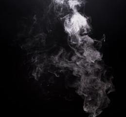 Smoky white cloud of vape e-cigarette
