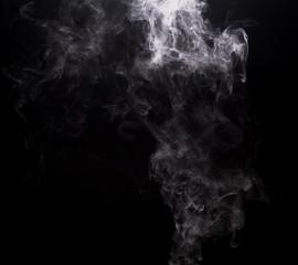 White cloudy smoke of vape e-cigarette