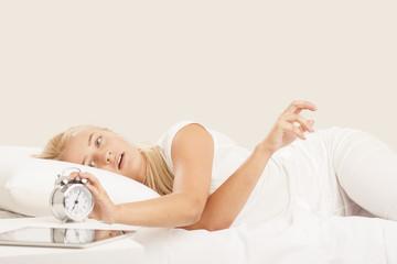 Young woman sleeps