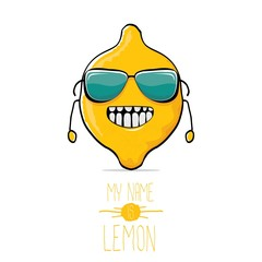 vector funny cartoon cute yellow lemon