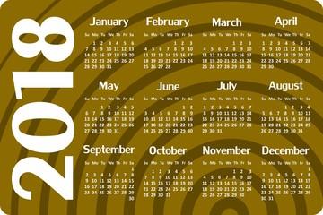 Calendar for year.
