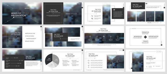 Black and gray elements for infographics on a white background. Presentation templates. Use in presentation, flyer and leaflet, corporate report, marketing, advertising, annual report, banner.