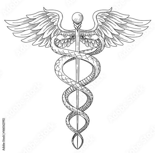 Cadeus Medical Medecine Pharmacy Doctor Acient High Detailed Symbol