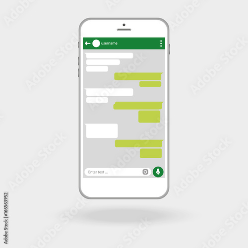 Blank Template Messenger Window Chating And Messaging Concept Vector