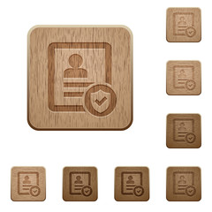 Protected contact wooden buttons