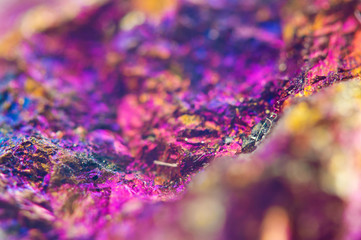 Colorful Abstract background from natural mineral. Macro