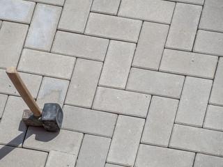 Pflasterhammer Gummihammer Wegebau
