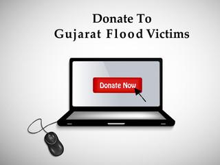 illustration of elements of Gujarat Flood Background