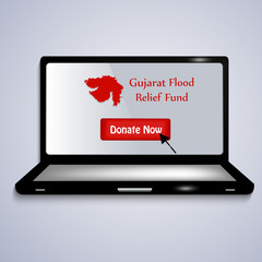 illustration of elements of Gujarat Flood Background
