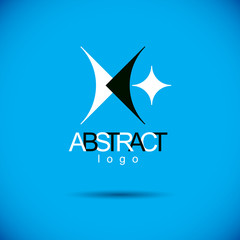 Vector abstract geometric shape best for use as creative business logo.