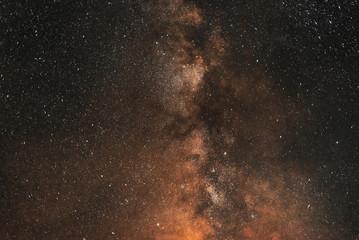 Milky way galaxy. Great plan.Night sky with stars.