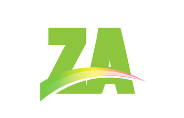 ZA Initial Logo for your startup venture