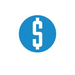 Business, finance icon. Vector illustration isolated on white background. Money symbol.