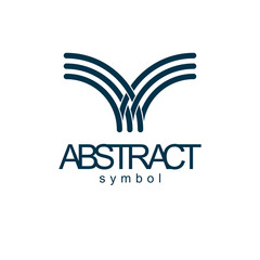 Vector abstract geometric shape best for use as successful business career abstract logo, symbol. Modern logothype isolated on  white background.