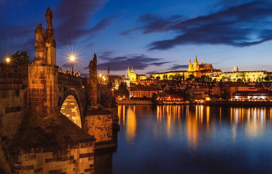 Night Prague - Charles Bridge