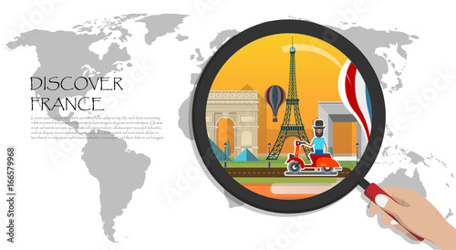 Travel infographic.Paris infographic; welcome to France. discover ...