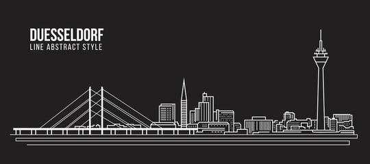 Cityscape Building Line art Vector Illustration design - Duesseldorf city