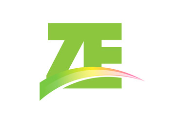 ZE Initial Logo for your startup venture