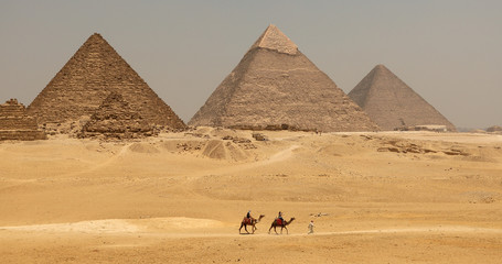 The Great pyramid with camel