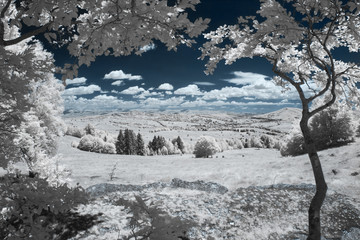 Infrared photography - mountain landscape and details