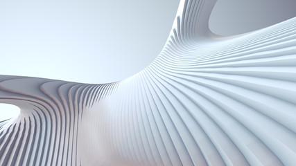 White stripe pattern futuristic background. 3d render illustration