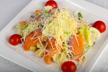Caesar salmon salad