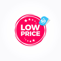 Low Price 50% Off Label