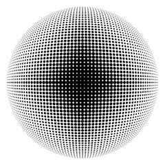 halftone sphere black