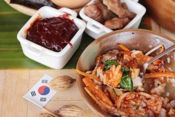 Bibimbap korean food is delicious