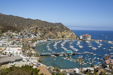 Street scenes in Avalon, the beach side town located on Catalina Island off the California coast.