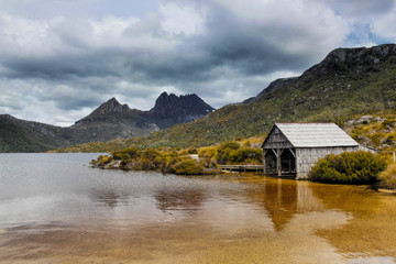 View Of Cradle Mountain From Dove Lake In Tasmania