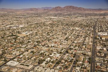 Subdivision houses in Las Vegas Nevada USA