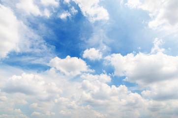 blue sky with cloud on the mid day, sky make feel to freedom in world wide.