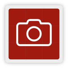 Red Icon Schaltfläche - Kamera