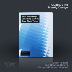 Business vector template, brochure design, abstract annual report,